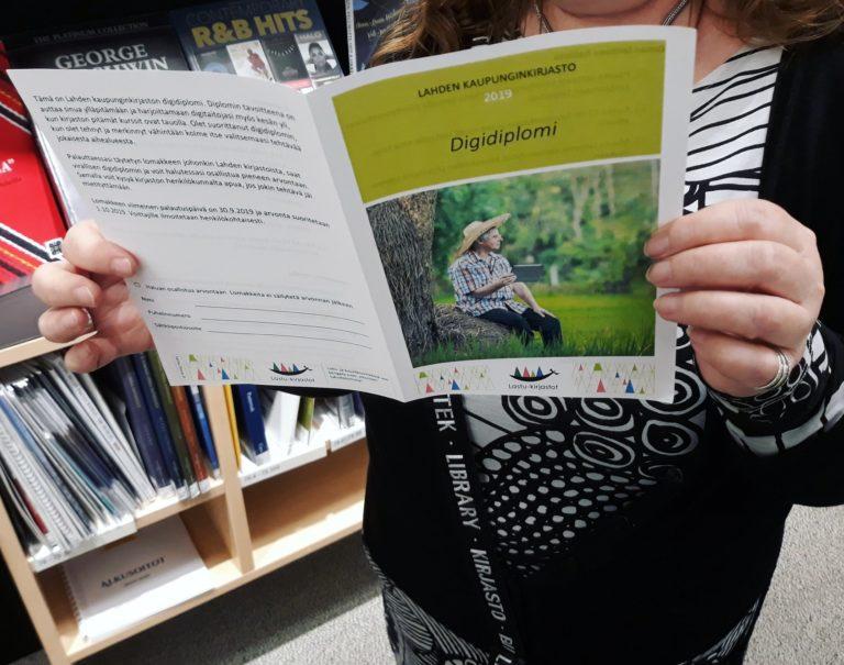 Lahden kaupunginkirjastossa voi suorittaa digidiplomin