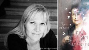 Johanna Venho kuvan toisella puolella, toisella kirja Ensimmäinen nainen, kansikuvassa Sylvi Kekkonen