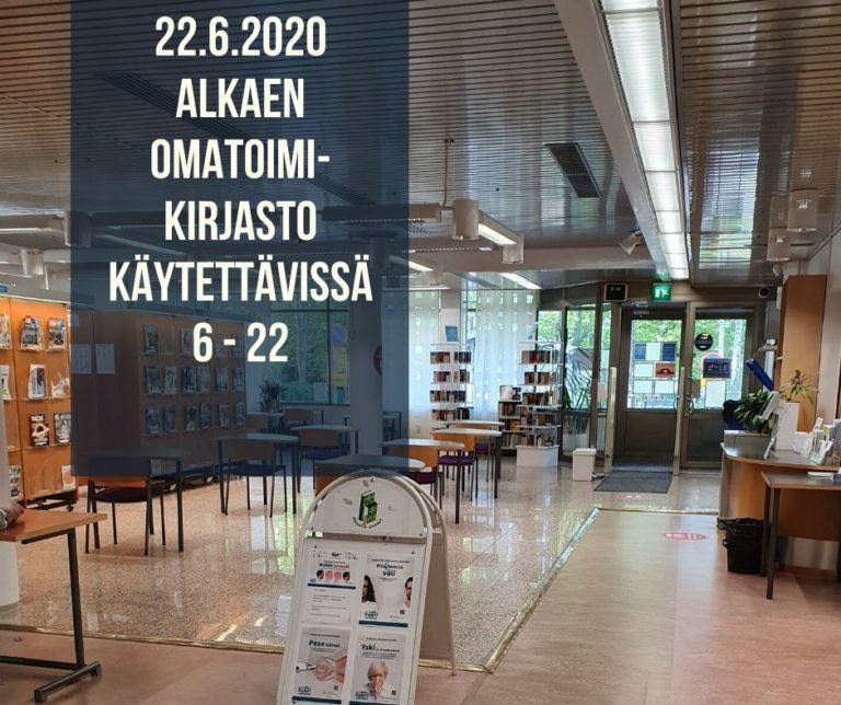 Heinolan kirjaston lehtisali käytössä omatoimisesti joka päivä 6 – 22