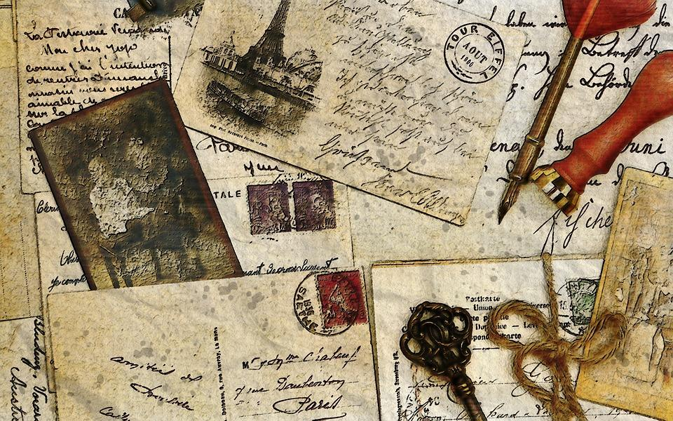 vanhoja kijeitä ja kortteja